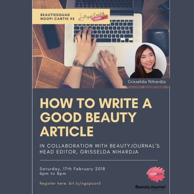 How To Write A Good Content (Ngopi Cantik 5)