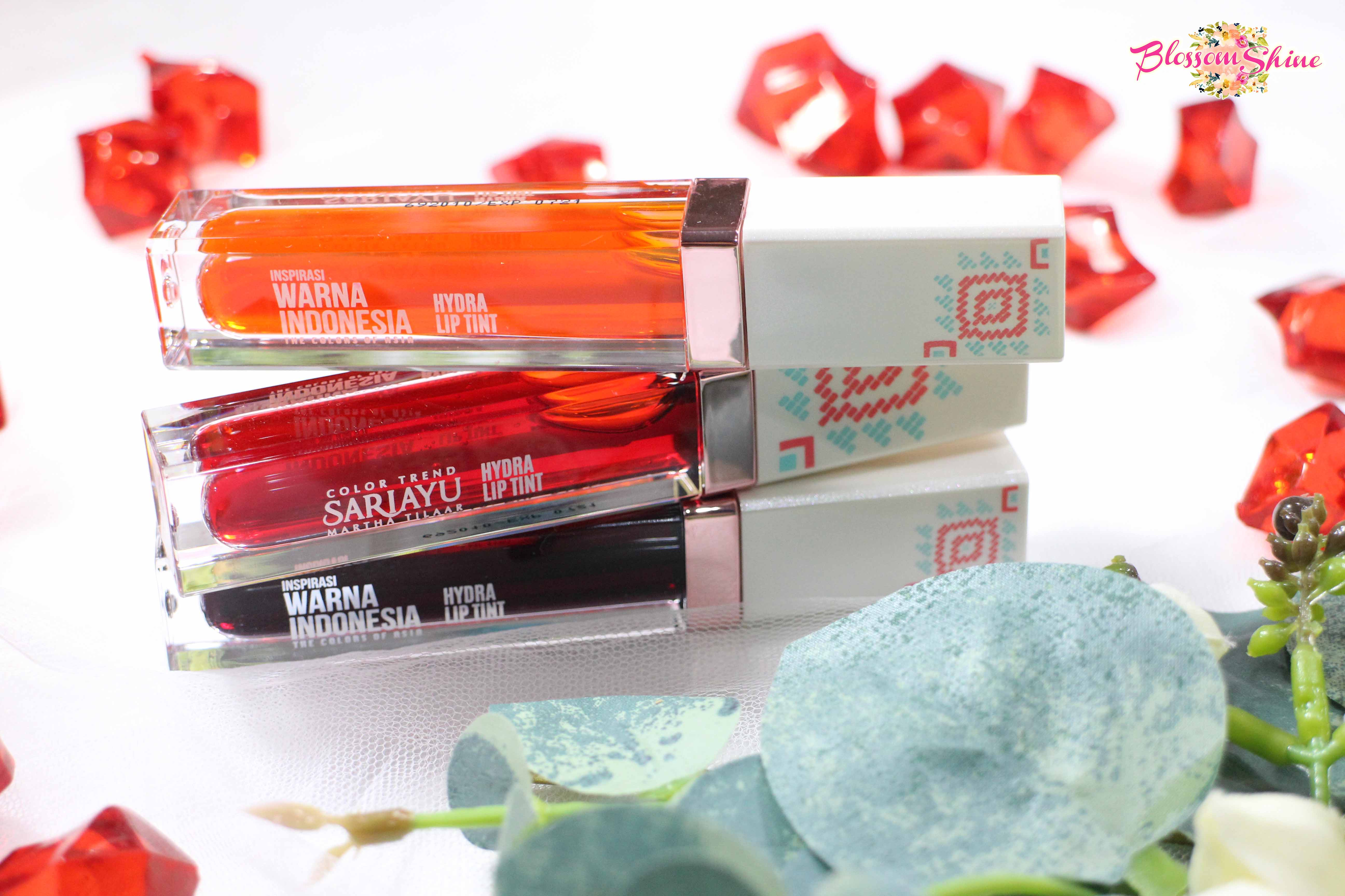 Hydra Lip Tint Sariayu Review & Swatches All Shades
