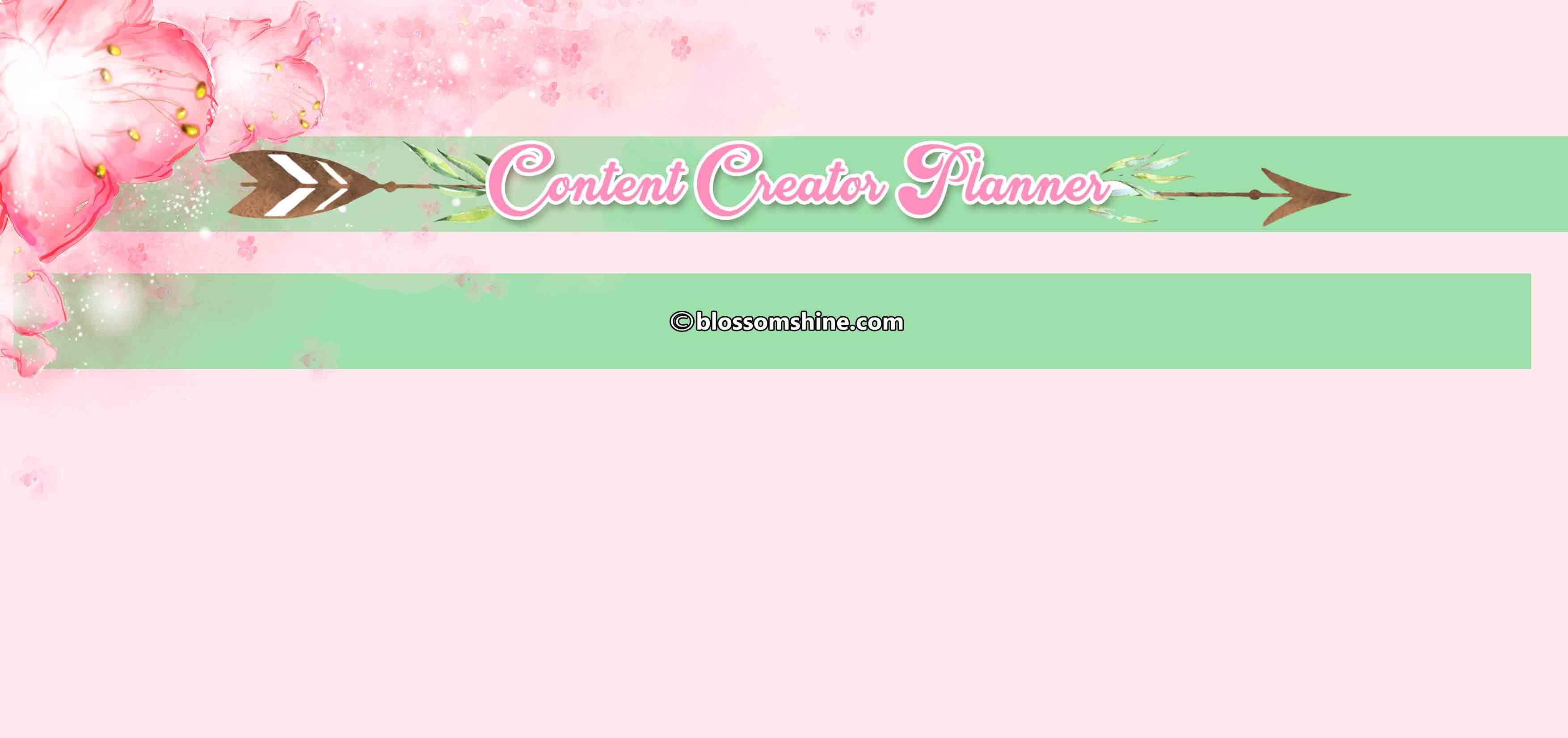 FREE Content Creator Planner (Printable Planner)